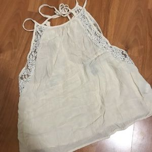 Cream Lace Halter Top